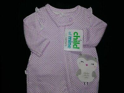 White Owl Girl (NWT Child of mine Preemie baby girl White/Lilac with Owl Cotton Sleep N)