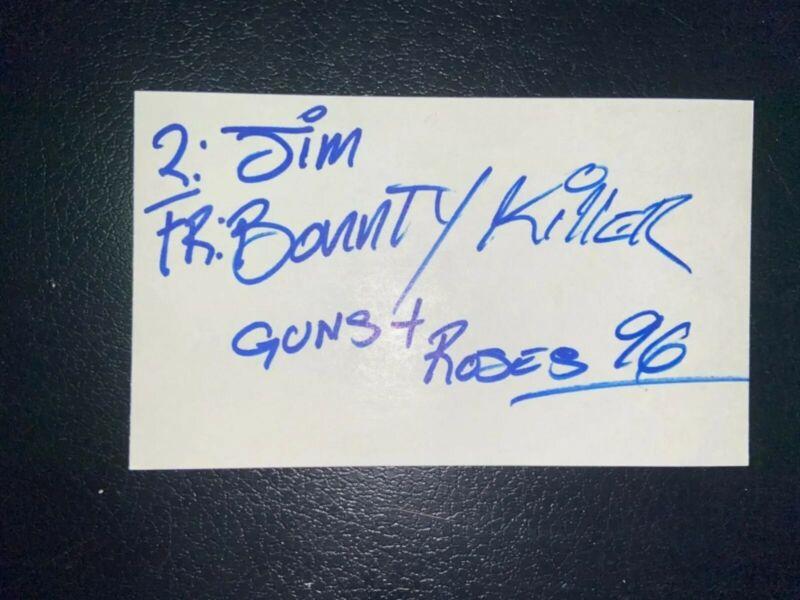 BOUNTY KILLER - REGGAE DANCEHALL LEGEND - RARE SIGNED 3x5 Index Card