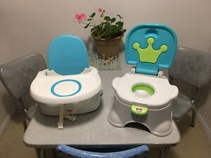 Infant/toddler high chair and potty