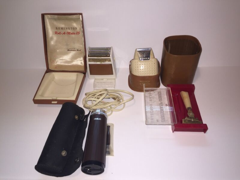 Vintage Lot Of Razors Schick, Ren, Remington