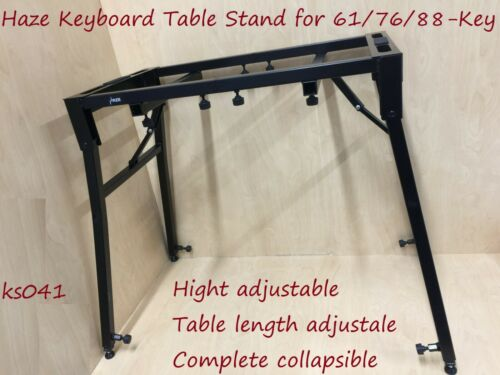 Haze Keyboard Table Stand-61-Key,76-Key,88-Key.Adjustable & Collapsible.BK.KS041