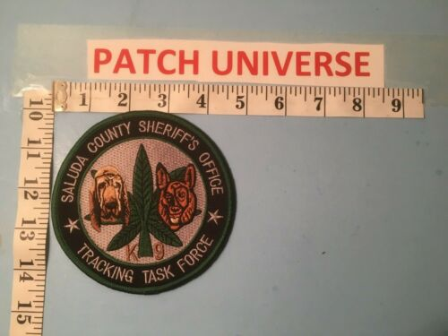 SALUDA COUNTY SHERIFF K-9 TRACKING TASK FORCE  SHOULDER PATCH  P024