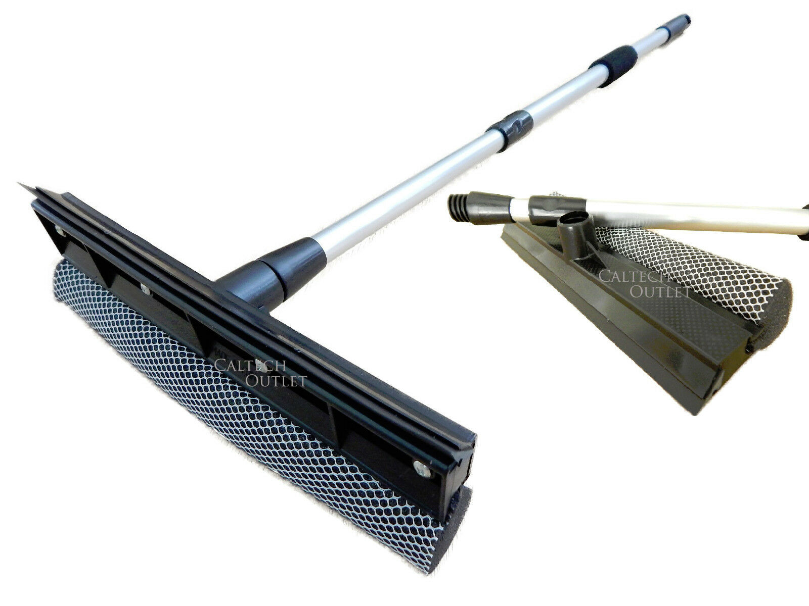 telescopic extendable window squeegee long handle washer