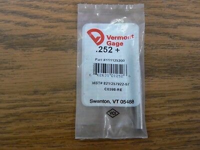 Vermont Gage Pin .252 Part 111125200