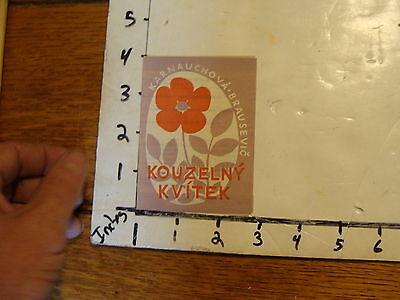 Vintage MARIONETTE Paper: 1957 little Program KOUZELNY KVITEK, mili pratele