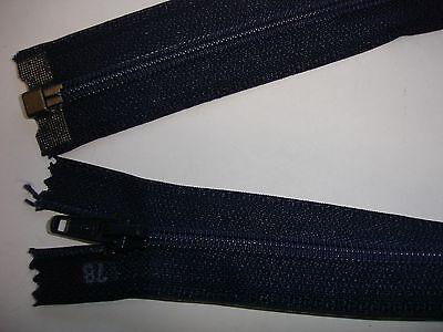 RV 312 Reißverschluß opti dunkelblau 78cm, teilbar 1 Stück