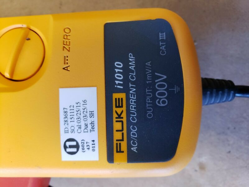 Fluke i1010 AC/DC Current Clamp, Excellent  Condition