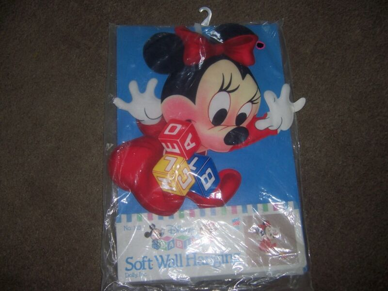 Vintage Dolly Inc. Disney Babies Minnie Mouse Soft Wall Hanging New In Package
