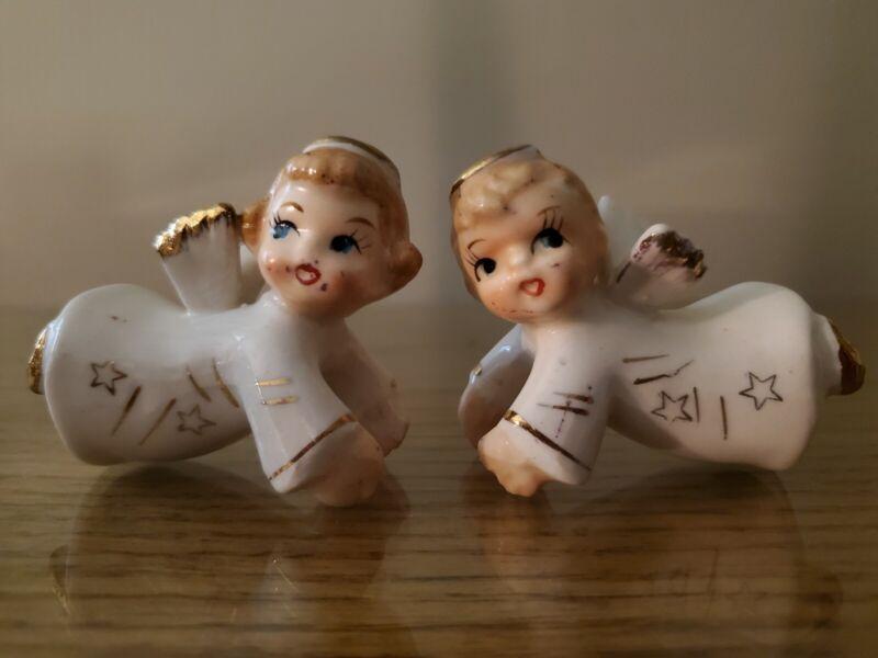 Vintage Christmas Angel Candle Climbers Huggers