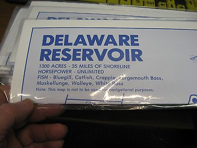 Reservoir Fishing Map - Ohio Topo Fishing & Boating Map Chart Guide / Delaware Reservoir