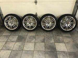 4 Audi winter tires with rims, used for 1 year only. 18x8.0