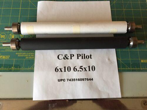 6x10 and 6.5x10 C&P Pilot letterpress printing press rollers and trucks no press