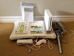Nintendo Wii with balance board, Wii Fit Plus, Wii Sports game Peterborough Peterborough Area image 1