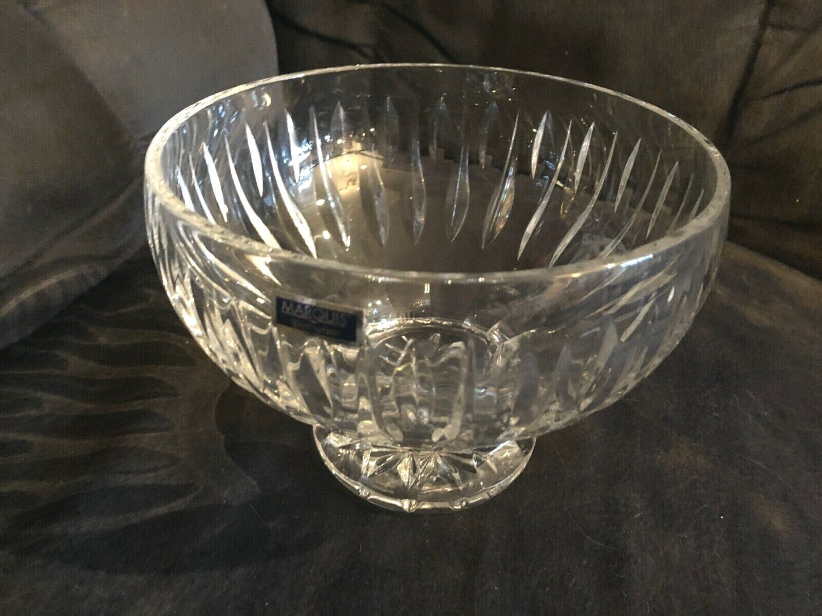 STUNNING VINTAGE 7 1/2 INCH MARQUIS BY WATERFORD SHERIDAN CUT CRYSTAL FTD. BOWL - $18.95