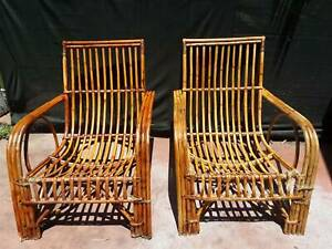 Outdoor cane lounge chairs