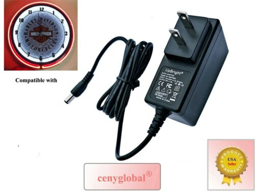 AC Adapter For Harley Davidson Neon Clock HDL-16611 HDL-16675 Power Supply Cord