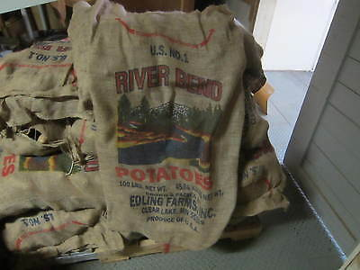 Sacks For Sack Races (Burlap potato sack bag (decorating, racing) Great for Sack)