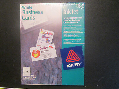 Avery White Business Cards Inkjet 8571