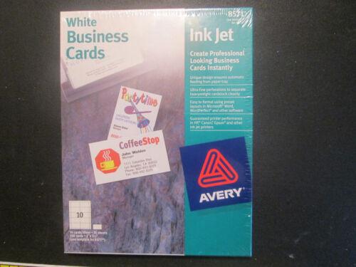 Avery White Business Cards Inkjet #8571