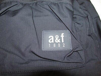 Abercrombie & Fitch Active Backpack Nylon Bag Navy Blue School Book Bag Boy Girl