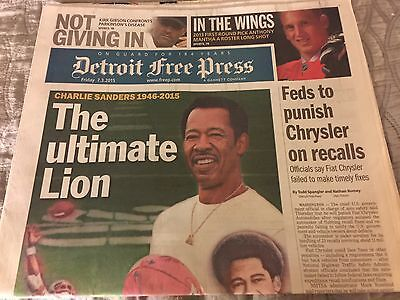 Detroit Free Press  Passing Of Charlie Sanders Detroit Lions 7 3 15 Nfl Hof