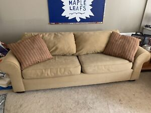 Beige Couch and Loveseat
