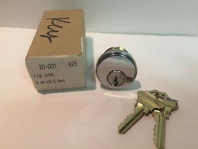 Schlage 20-001-625 Mortise Cylinder With Straight Cam C Keyway Polished Chrome