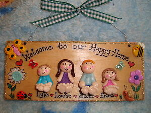 3d Personalised Family Home Welcome Sign 4 Character  Plaque New Home Wedding