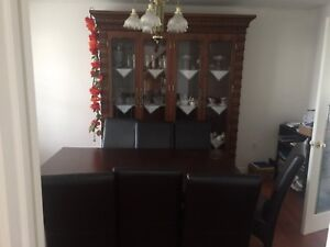 Dining table & chairs $ cabinet for sale