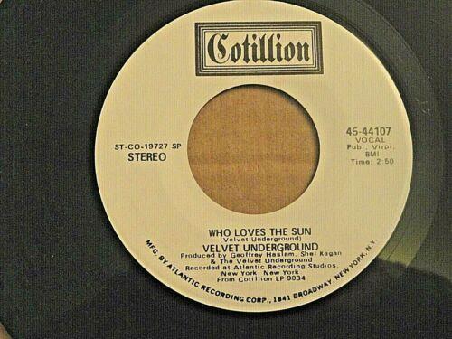 The VELVET UNDERGROUND. A 45RPM R&R record on COTILLION