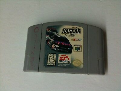 NASCAR 99 64 Cartridge only Cleaned & Tested Works Great N64 B28