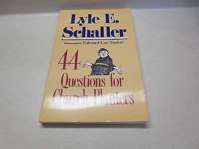 Church Planters - 44 Questions For Church Planters by Lyle E. Schaller Abingdon paperback