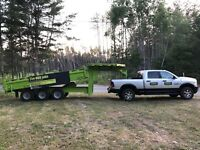 Dump/float trailer for hire