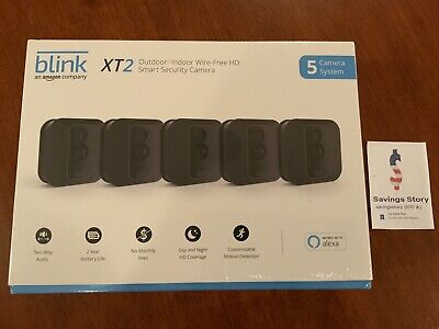 Blink XT2 5-Camera Indoor Outdoor 1080p Smart Home Security System & Sync Module