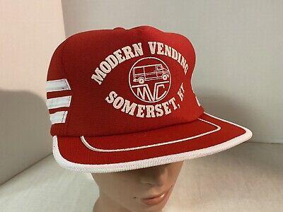 VINTAGE 80s SNAPBACK TRUCKER HAT 3 STRIPE Advertising Hat Cap Somerset Ky