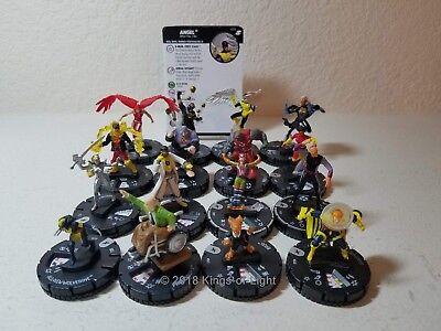 Complete Set 16 Rare   Marvel X Men Xaviers School Heroclix Miniature Lot