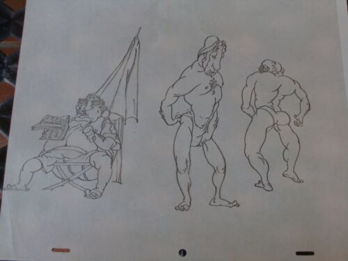 Great lot of 11pre production cels from Bakshi