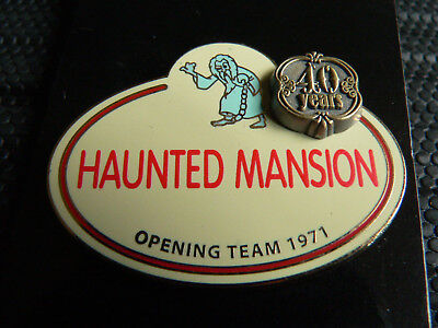 HAUNTED MANSION WDW Walt Disney Earth 40th Name Tag 40 Years Cast Member Pin NOC