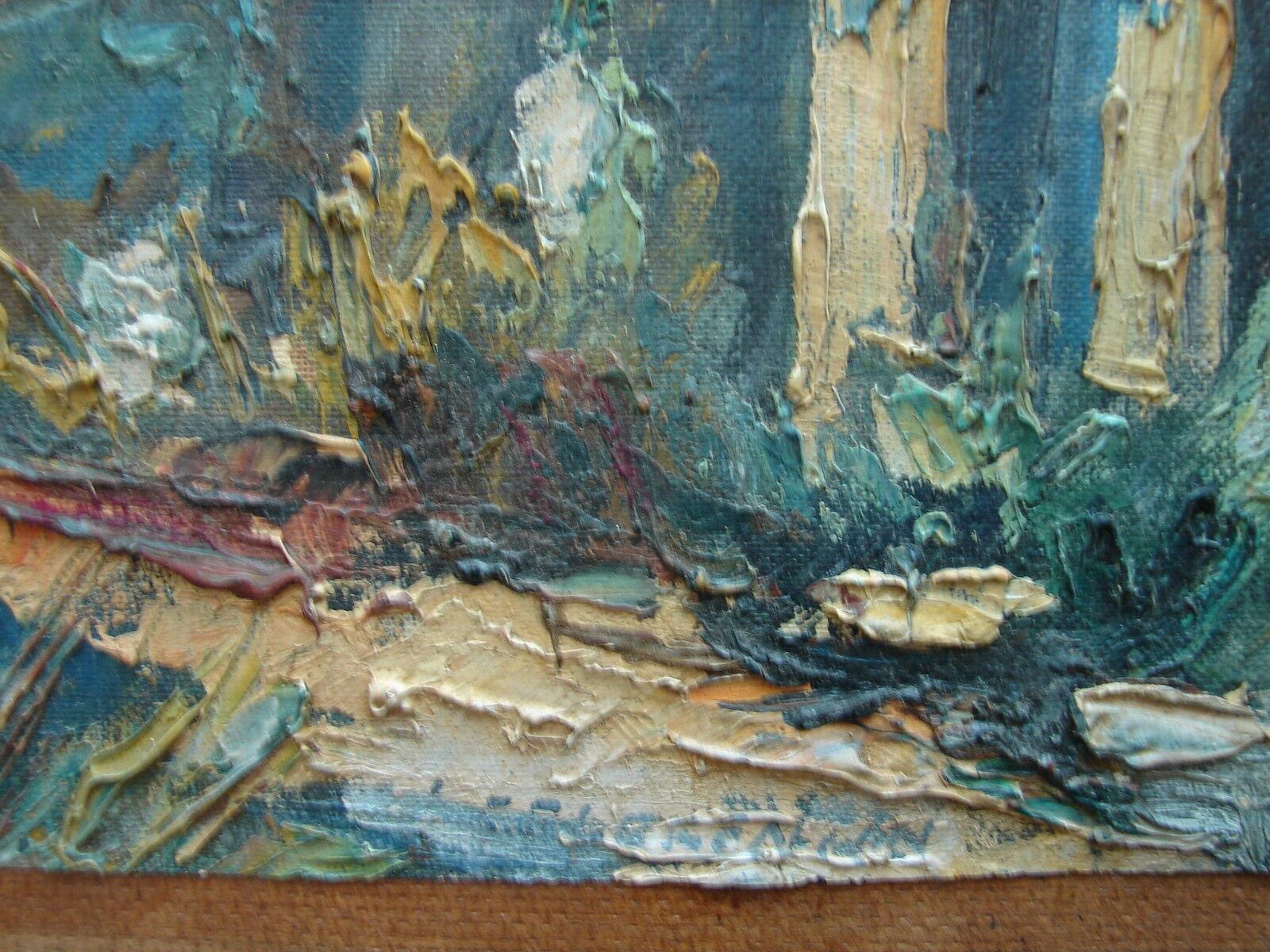 jolie ancienne peinture au couteau huile sur toile eur 108 00 picclick fr. Black Bedroom Furniture Sets. Home Design Ideas