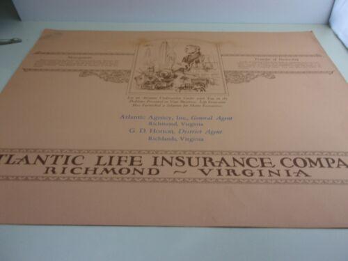 Vintage Atlantic Life Richmond Richlands Virginia Insurance Co Desk Cover Large