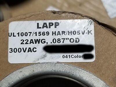 Lapp Kabel 4180401 22awg Har H05v-k Ul1007 Multi-standard Wire Black 100ft