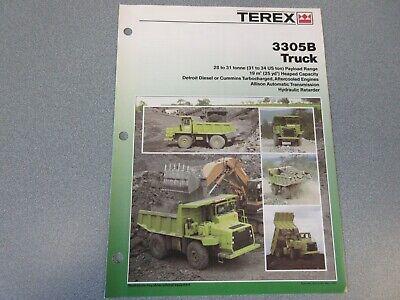 Terex 3305b Dump Truck Literature