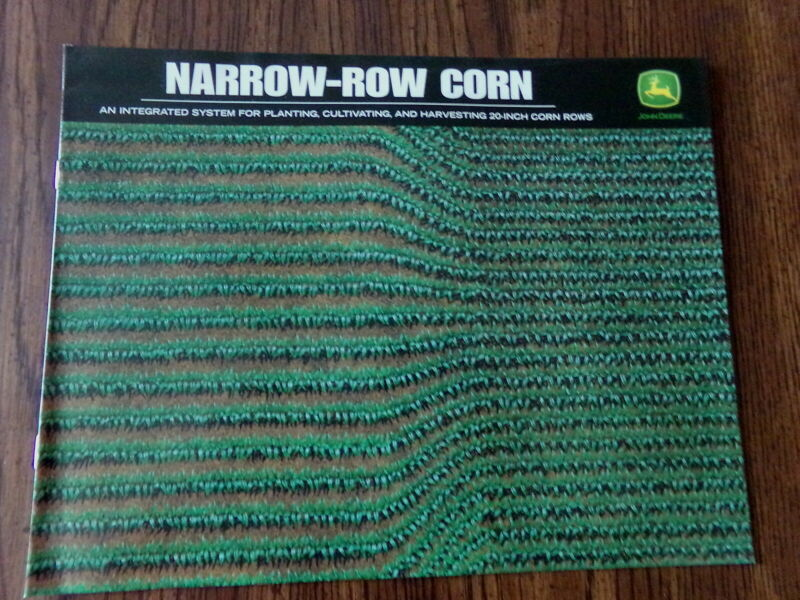 JOHN DEERE SALES ADVERTISING BROCHURE NARROW-ROW CORN PLANTING CULTIVATING