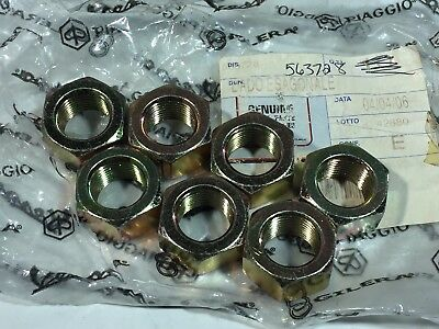QTY 7 NEW OEM PIAGGIO VESPA 563728 NUT