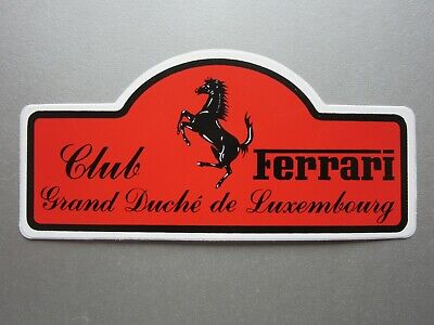 Auto-collant CLUB FERRARI Grand Duché de Luxembourg sticker