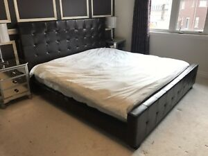 Urban Barn King Leather Bed