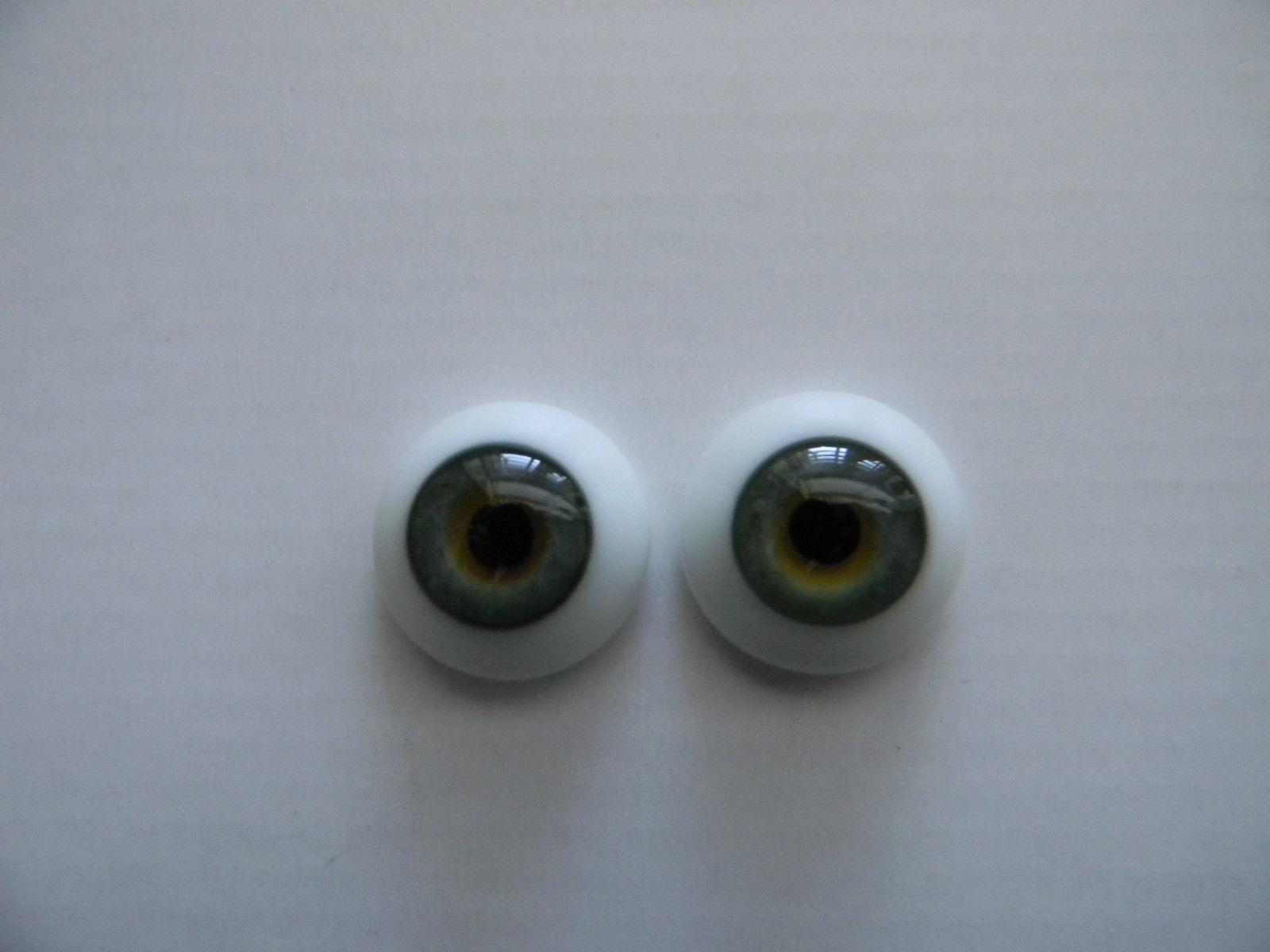 20mm FLAT BACK Glass Eyes REBORN//OOAK Baby DOLLS~Reborn Supplies~GREEN