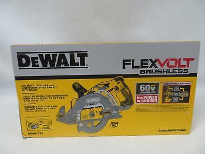 """DEWALT DCS577X1 FLEXVOLT 60V MAX 7-1/4"""" Worm Style Saw Kit"""