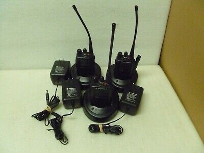 Lot Of 3 Motorola Ex500 Vhf Radio 136-174 Mhz 5w Two Way With Battery Charger