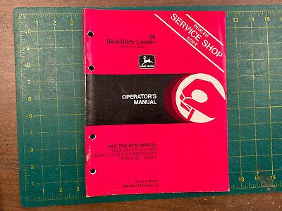 Oem John Deere Operators Manual 60 Skid-steer Loader G0